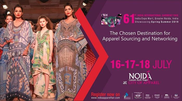 61st India International Garment Fair, 16-18 July 2018, India, Gautam Buddh Nagar, Uttar Pradesh, India