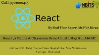 Reactjs online & Classroom Demo on 12th May @ 11 AM IST
