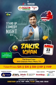 Zakir Khan Stand Up Comedy 2018 in Dallas