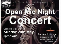 Leelee Promotions, Band Ghetto Twiinz & Sahara Lounge Presents Open Mic Night Concert