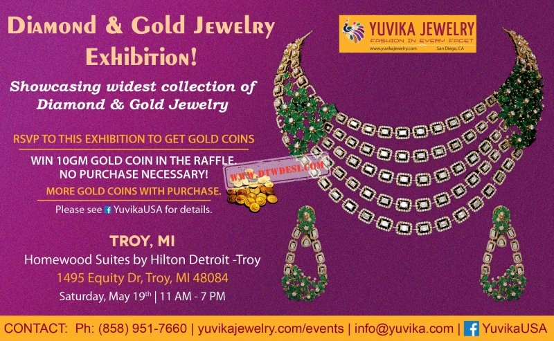 Diamond & Gold Jewelry Exhibition at Troy, Mi By Yuvika Jewelry, Oakland, Michigan. Trade Shows Title