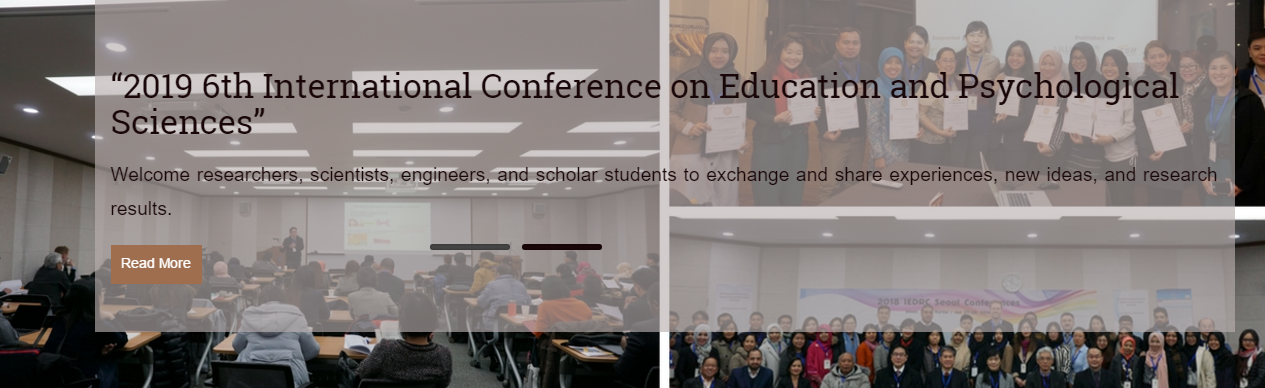 2019 6th International Conference on Education and Psychological Sciences (ICEPS 2019), Singapore