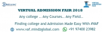 Virtual Admission Fair(VAF) - 2018