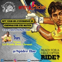 GET YOUR IPL EXPERIENCE IN CHENNAI FOR CSK MATCH | Registration by Entryeticket