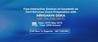 Free Interactive Session with Mrigakhi Deka (AIR 126, CSE 2017) in Guwahati