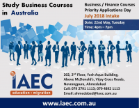 Business Courses - Admissions Information Day @ IAEC Ahmedabad