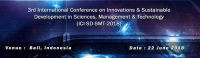 3rd International Conference on Innovations & Sustainable Development in Sciences, Management & Technology (ICI-SD-SMT-2018)