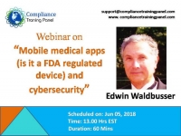 Mobile medical apps (is it a FDA regulated device) and cybersecurity