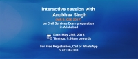 Free Seminar in Allahabad with IAS Topper Anubhav Singh