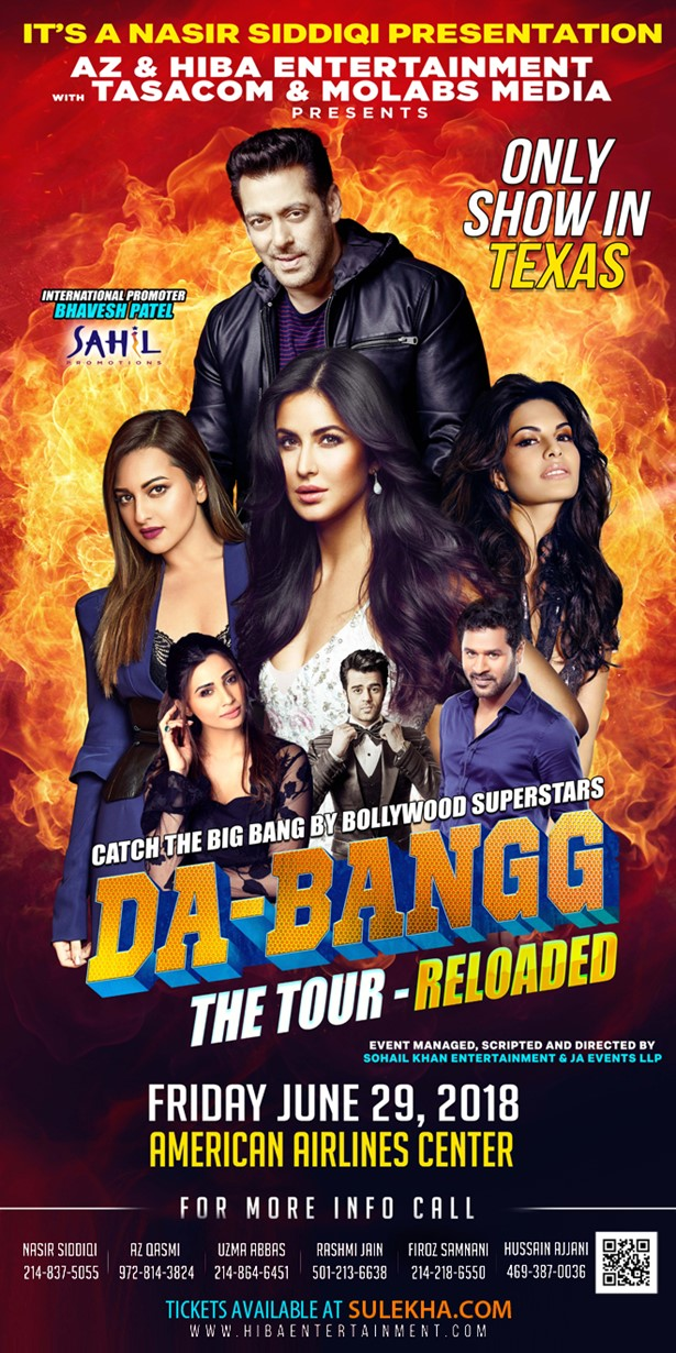 Salman Khan Live Concert Debangg Reloaded 2018 in Dallas, Dallas, Texas, United States