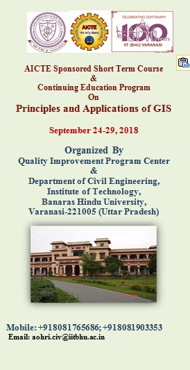 Principles and Applications of GIS, Varanasi, Uttar Pradesh, India
