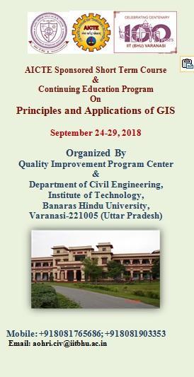 Principles and Applications of GIS, Varanasi, Uttar Pradesh, India