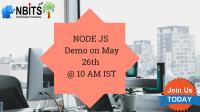 Nodejs Online & offline Free Demo on May 26th @ 10 AM IST