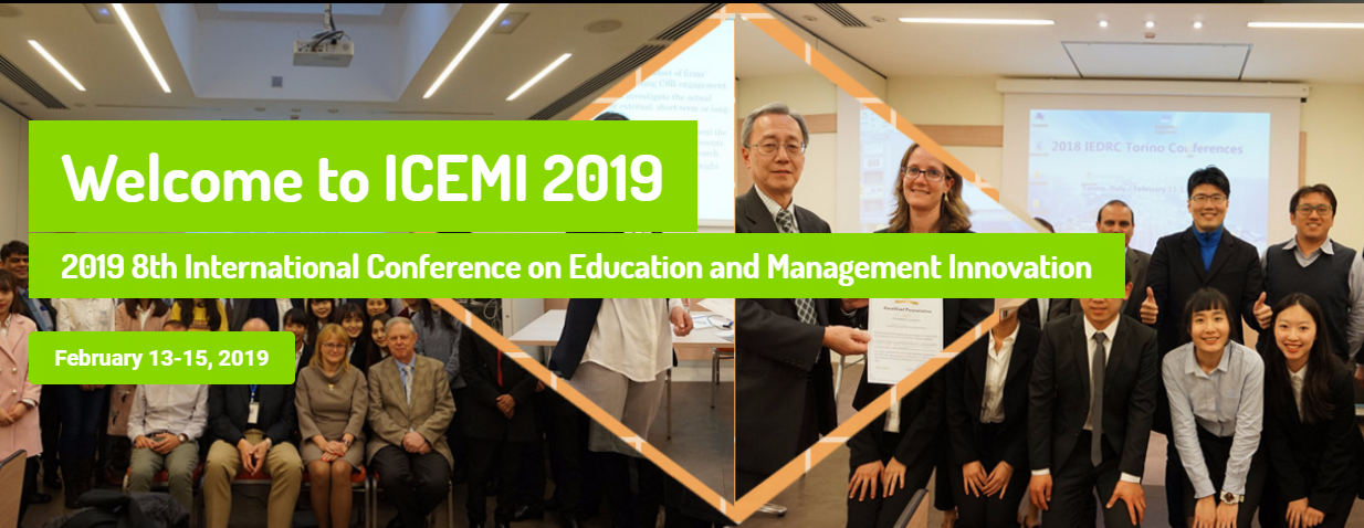 2019 8th International Conference on Education and Management Innovation (ICEMI 2019), Milano, Italy