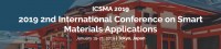 2019 2nd International Conference on Smart Materials Applications (ICSMA 2019)--SCOPUS, Ei Compendex