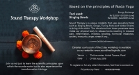 SINGING BOWLS SOUND THERAPY WORKSHOP – BASED ON THE PRINCIPLES OF NADA YOGA