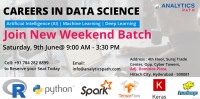 Enrolment Is Underway For A New Weekend Batch On Data Science