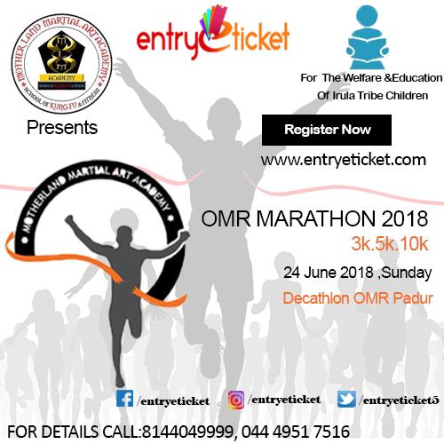 OMR MARATHON 2018 - RUN FOR THE EDUCATION OF IRULA TRIBE CHILDREN, Chennai, Tamil Nadu, India