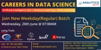 Book Your Seats For The New Weekday Batch On Data Science