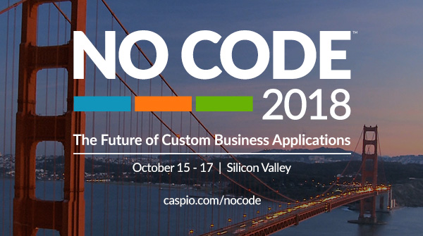 NO CODE 2018: The Future of Custom Business Applications