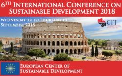 ICSD 2018 : 6th International Conference on Sustainable Development, 12 - 13 September 2018 Rome, Italy, Rome, Lazio, Italy