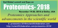 2nd Global Summit and Expo on Proteomics