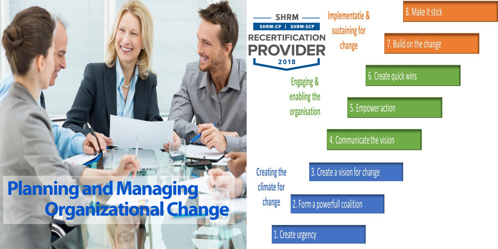 Planning and Managing Organizational Change: The 8-Step Process for Making Change Work In Your Department and In Your Organization, Aurora, Colorado, United States