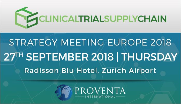 Clinical Trial Supply Chain Strategy Meeting Europe 2018, Kloten, Zürich, Switzerland