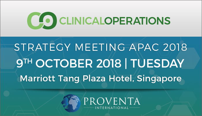 Clinical Operations Strategy Meeting APAC 2018, Orchard Rd, Central, Singapore