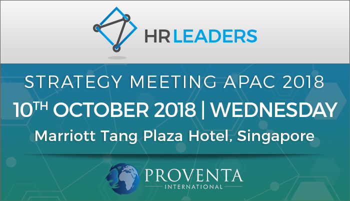HR Leaders Strategy Meeting APAC 2018, Orchard Rd, Central, Singapore