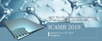 KEM--2019 The 9th International Conference on Advanced Materials Research (ICAMR 2019)--EI Compendex, Scopus