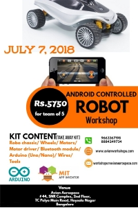 One day workshop on Android Controlled Robot