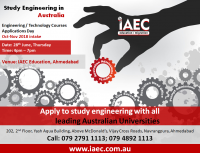 Study Engineering Abroad - Info & Admissions Day @ IAEC Ahmedabad on 28th June 2018 ,Thursday.