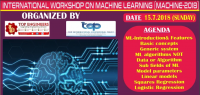 INTERNATIONAL WORKSHOP ON MACHINE LEARNING (MACHINE-2018)