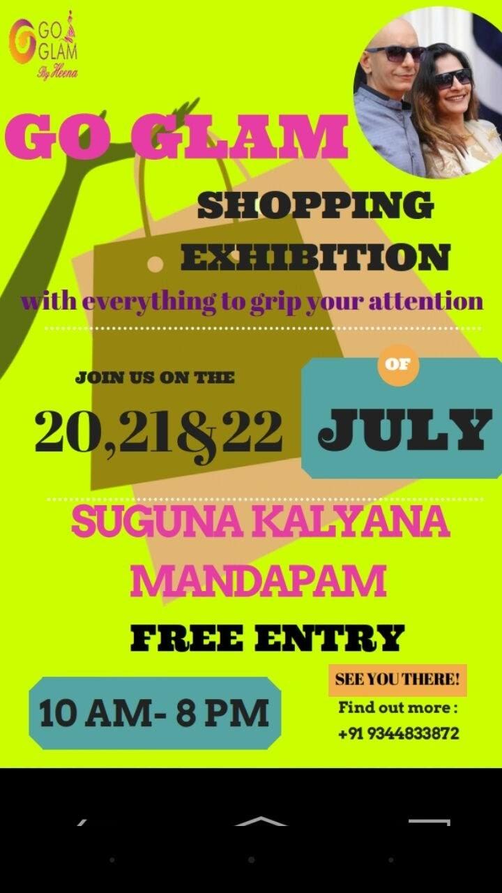 go glam shopping exhibition, Coimbatore, Tamil Nadu, India