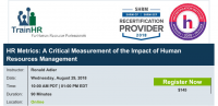 Webinar on HR Metrics: A Critical Measurement of the Impact of Human Resources Management