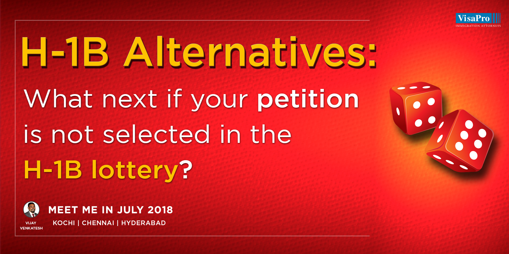 H-1B Alternatives: What Next If Your Petition Is Not Selected In The H-1B Lottery?, Chennai, Tamil Nadu, India