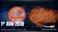 New York Yankees vs. Baltimore Orioles at Bronx