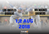 Los Angeles Dodgers vs. Milwaukee Brewers at Los Angeles