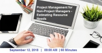 Project Management for Non-Project Managers (2018 Estimating Resource Needs)