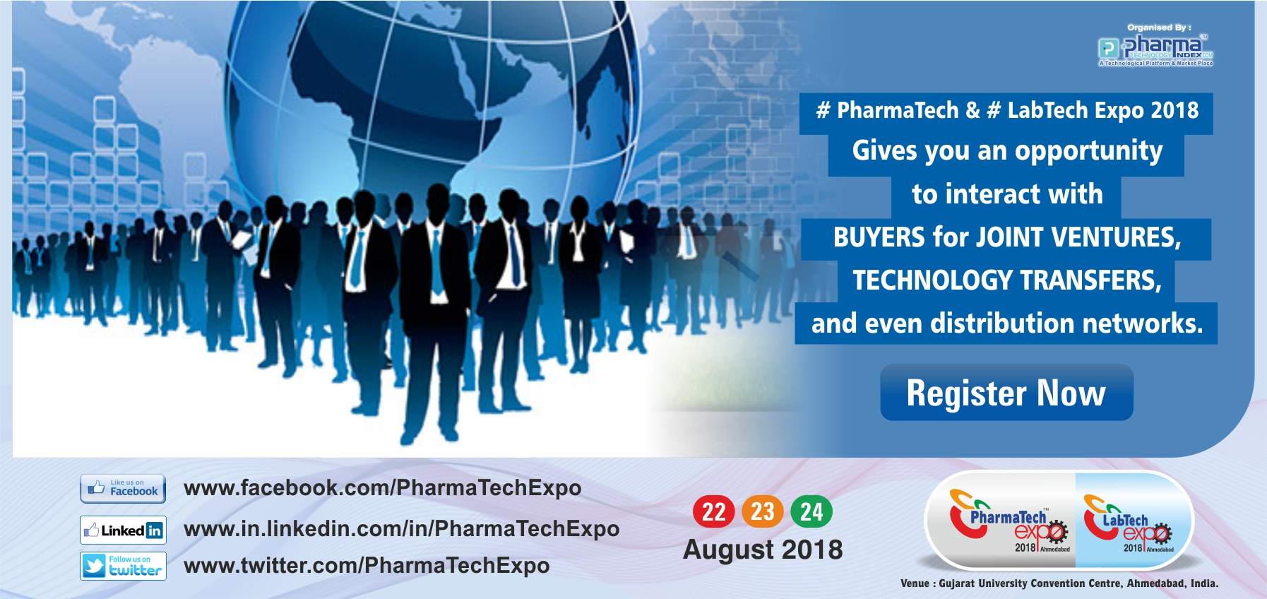 PharmaTech Expo -Western India's largest Pharma & Lab Expo, Ahmedabad, Gujarat, India