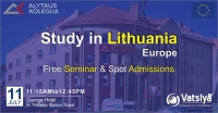 Free Seminar & Spot Admissions, Study in Lithuania-Europe Spt-18 at Surat Gujarat India
