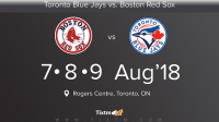 Toronto Blue Jays vs. Boston Red Sox at Toronto