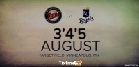 Minnesota Twins vs. Kansas City Royals at Minneapolis