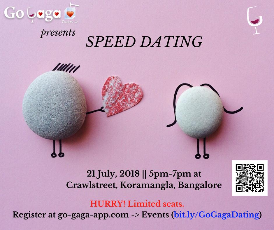 GoGaga - Speed Dating in Bangalore on 21/7, Bangalore, Karnataka, India