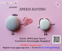 GoGaga - Speed Dating in Bangalore on 21/7
