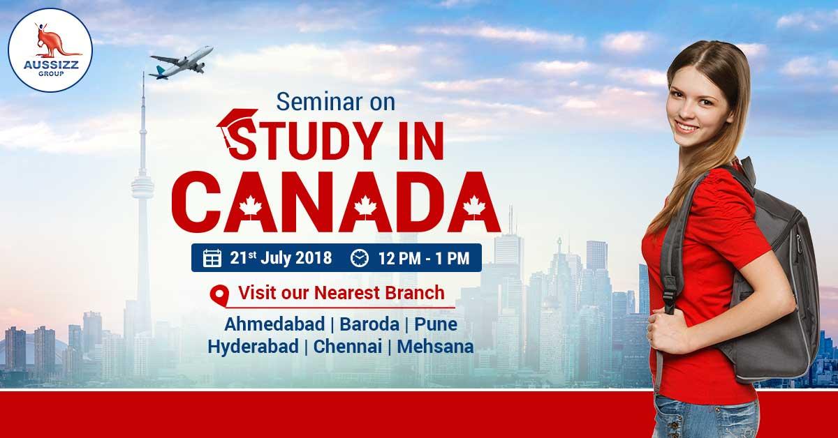 FREE Seminar on Study in Canada, Ahmedabad, Gujarat, India