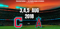 Cleveland Indians vs. Los Angeles Angels of Anaheim at Cleveland
