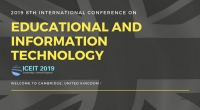 IEEE--2019 8th International Conference on Educational and Information Technology (ICEIT 2019)--EI Compendex and Scopus