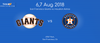 San Francisco Giants vs. Houston Astros at San Francisco  – Tixtm.com
